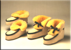 Lambskin house shoes